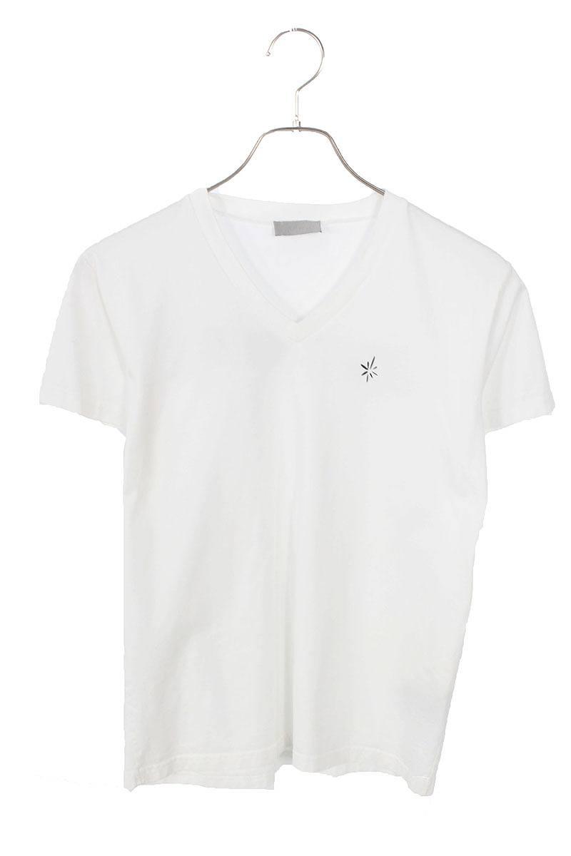 バックプリントVネックTシャツ