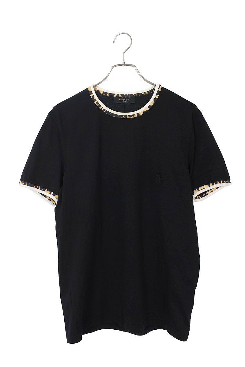 レオパードパイピングTシャツ