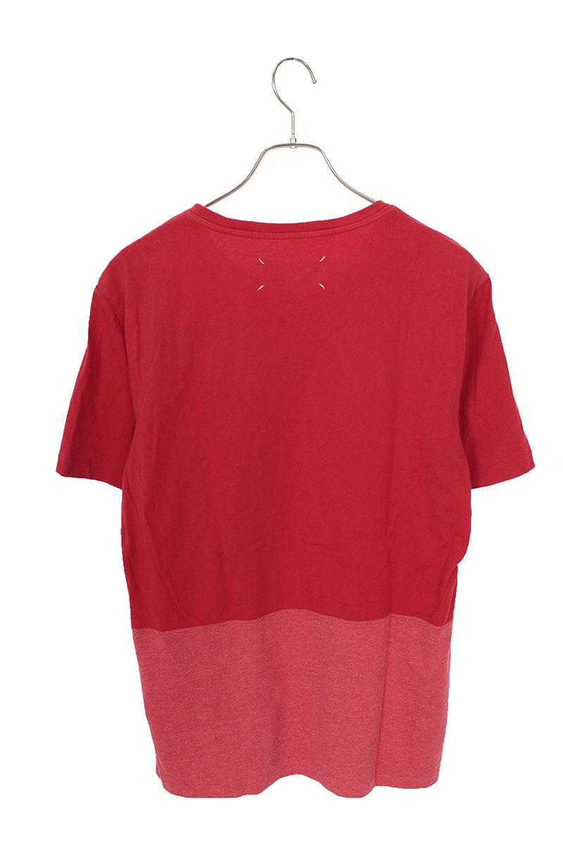 バック切替クルーネックTシャツ