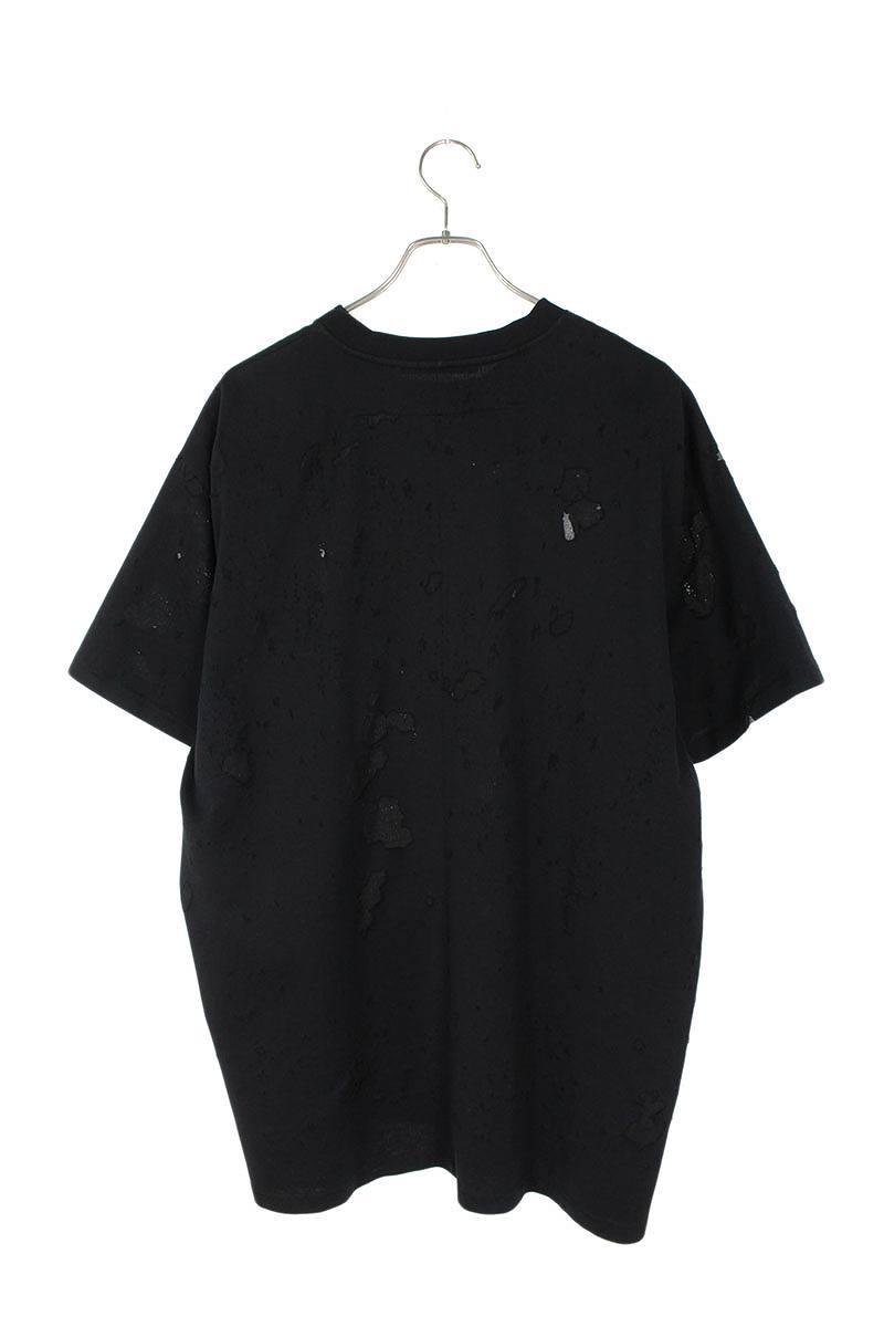 デストロイ加工ロゴプリントTシャツ