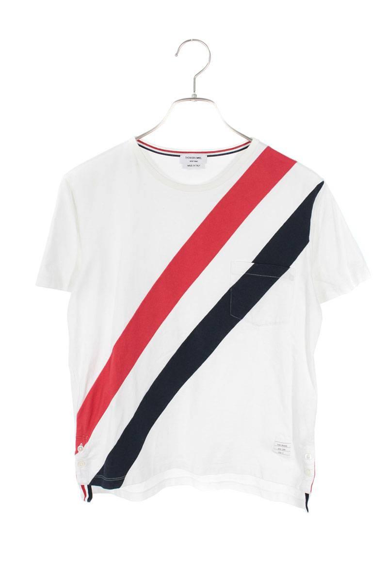 トリコロールラインTシャツ