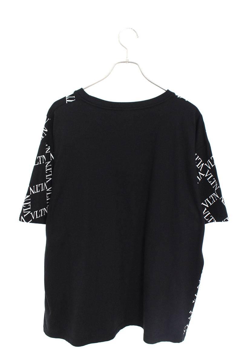 フロントグリッドプリントTシャツ