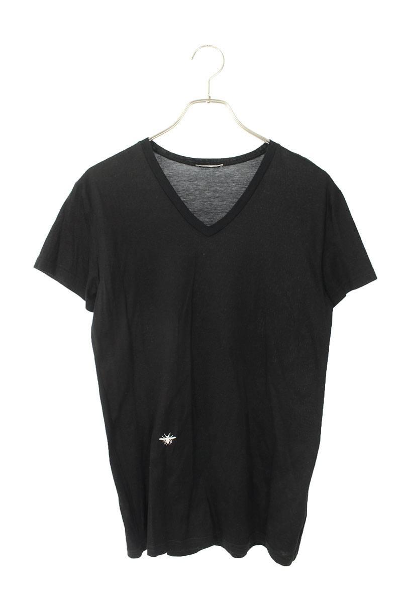 Bee刺繍VネックTシャツ