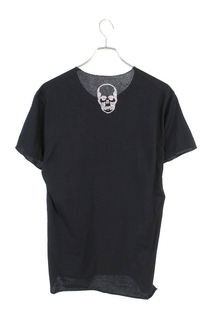 カットオフスワロフスキースカルTシャツ