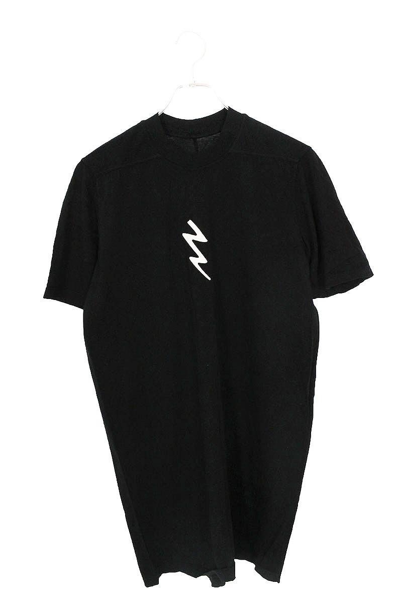 フロント稲妻刺繍ロングTシャツ