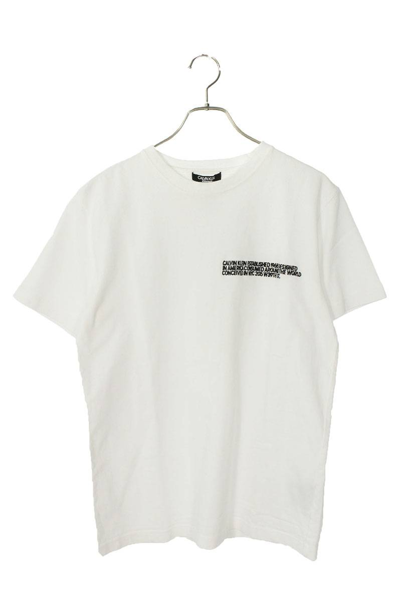 英字刺繍デザインTシャツ