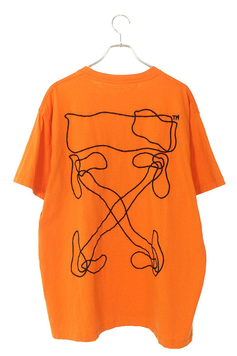 バックアロー刺繍オーバーサイズTシャツ