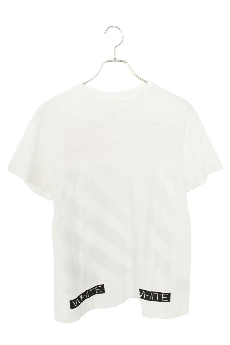 バックダイアゴナルプリントTシャツ