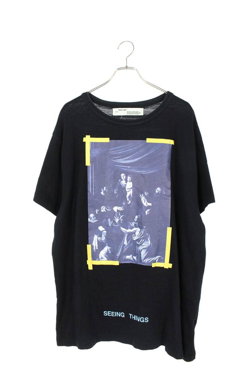 カラヴァッジョプリントオーバーサイズTシャツ
