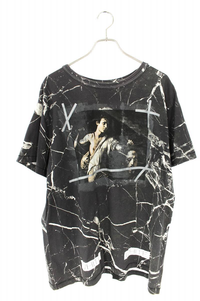 マーブルプリントTシャツ