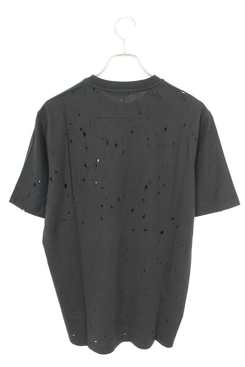 デストロイ加工フロントロゴTシャツ