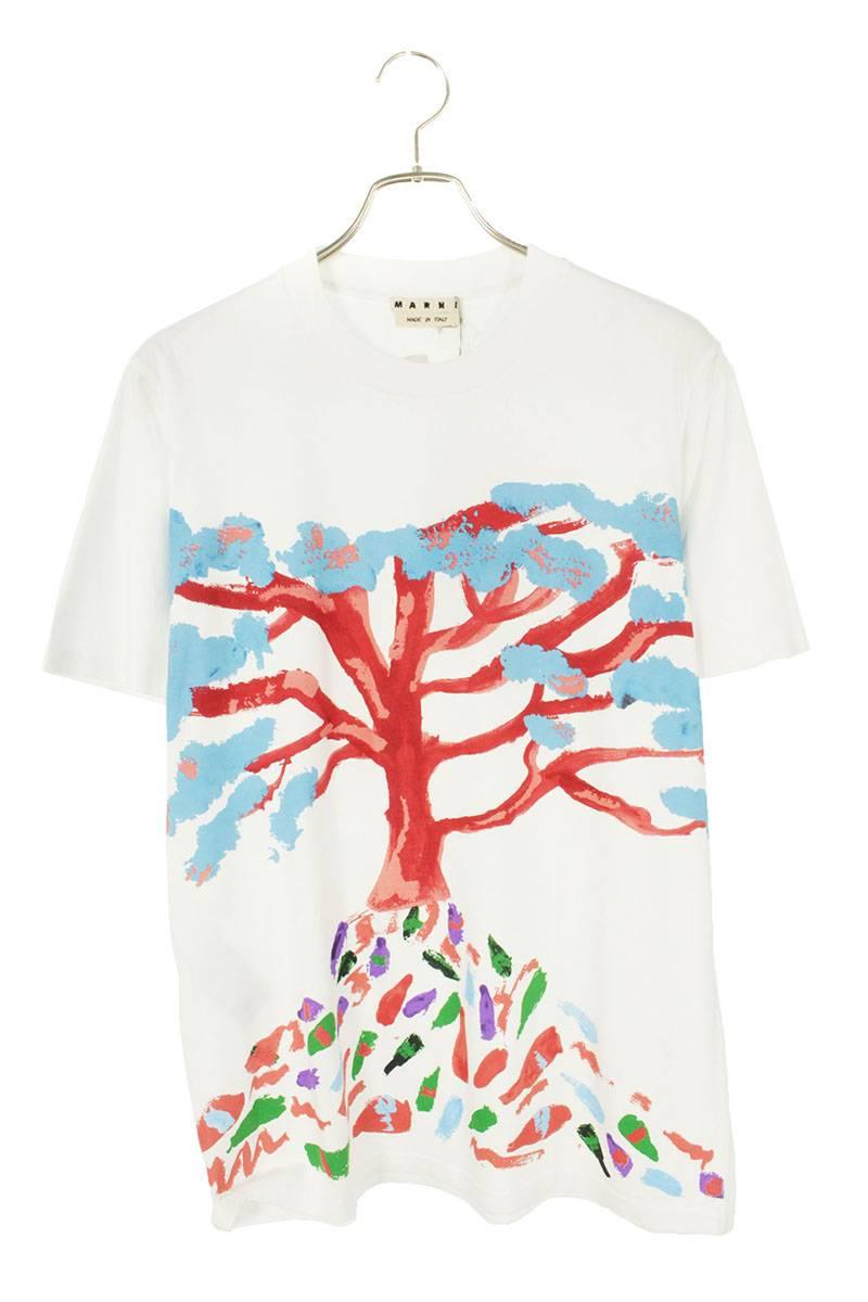 ペインティングデザインバックロゴプリントTシャツ