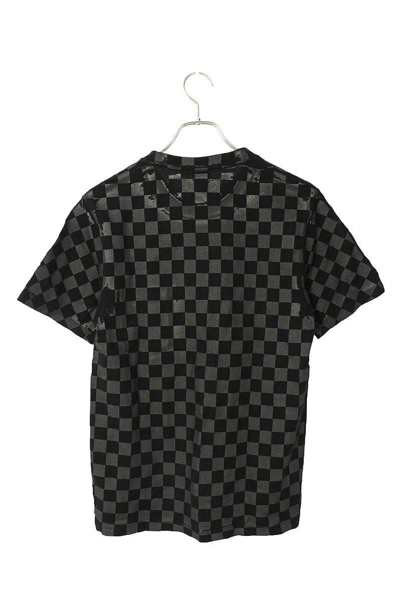 チェッカーフラッグプリントTシャツ