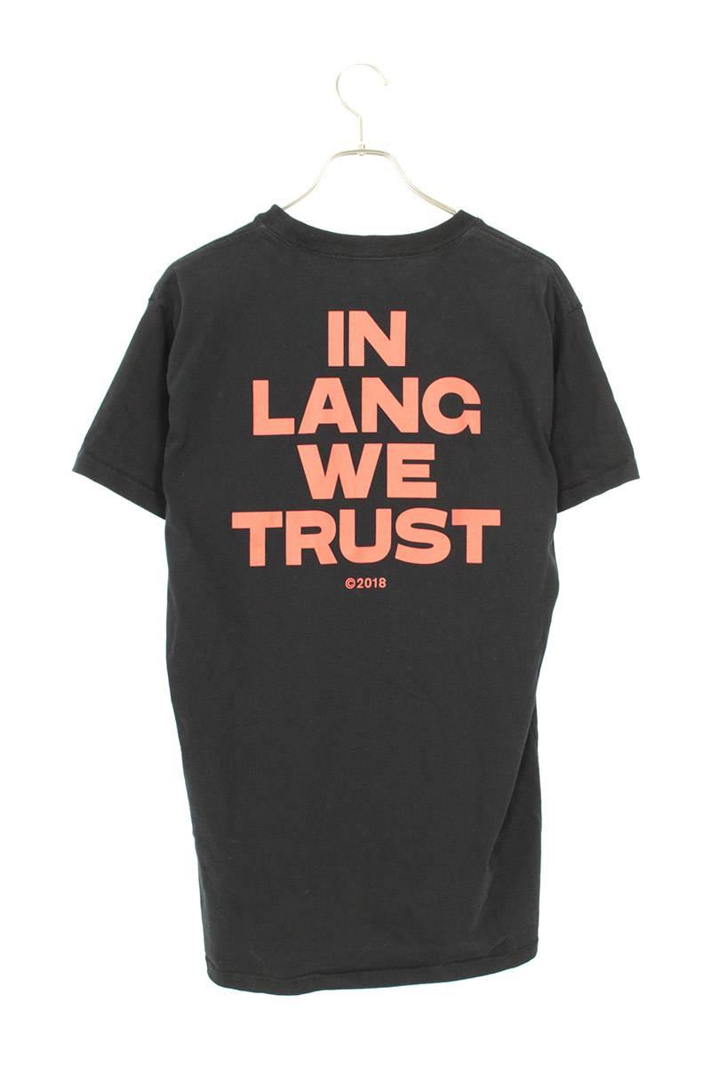 IN LANG WE TRUSTプリントTシャツ