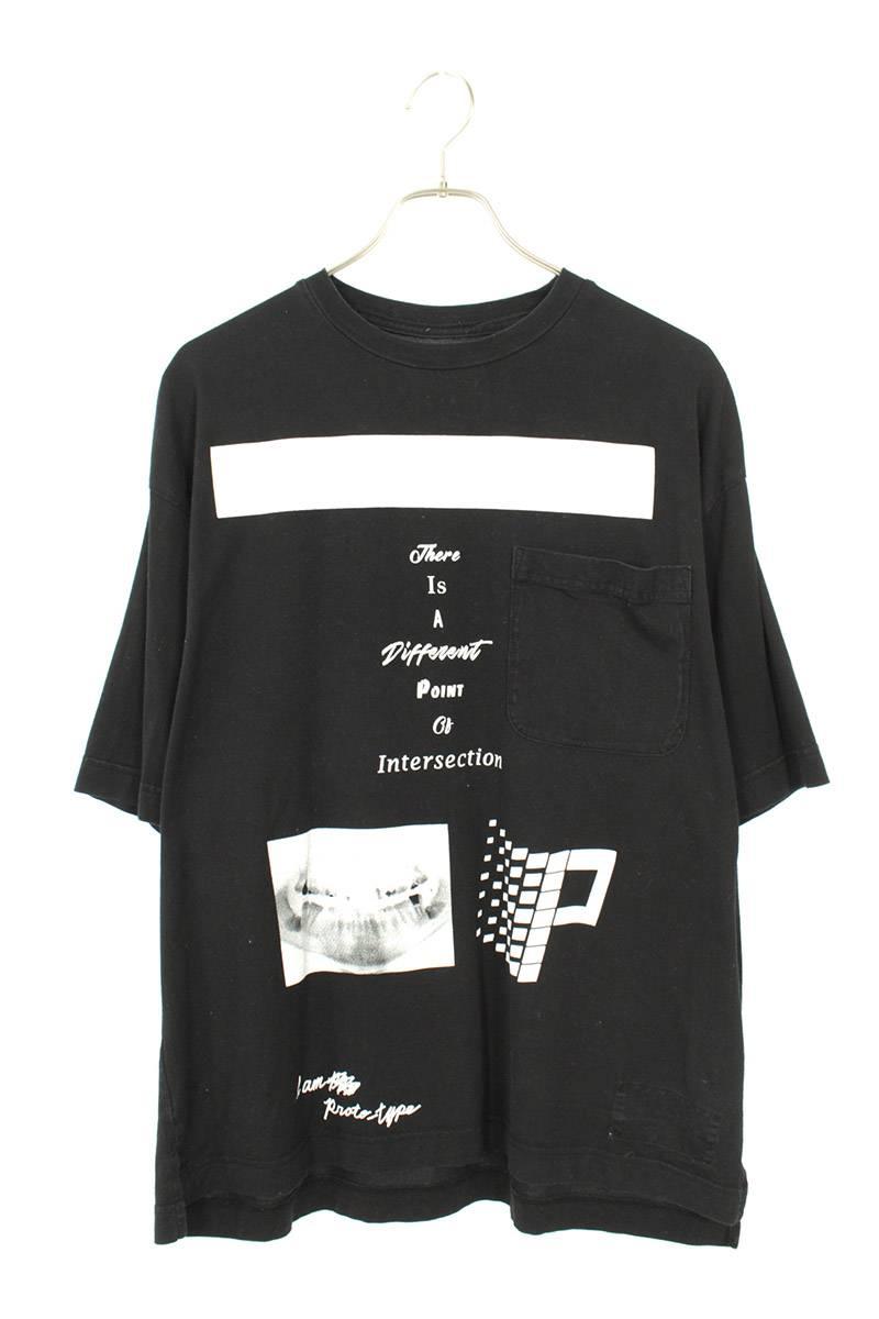 フロントプリントポケットTシャツ