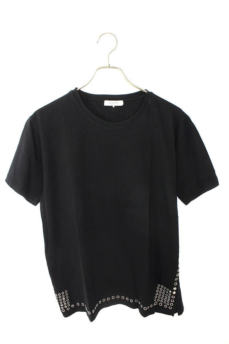 ハトメスタッズ装飾Tシャツ