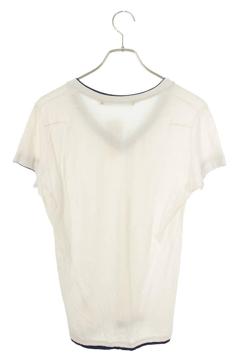 VネックスタッズTシャツ