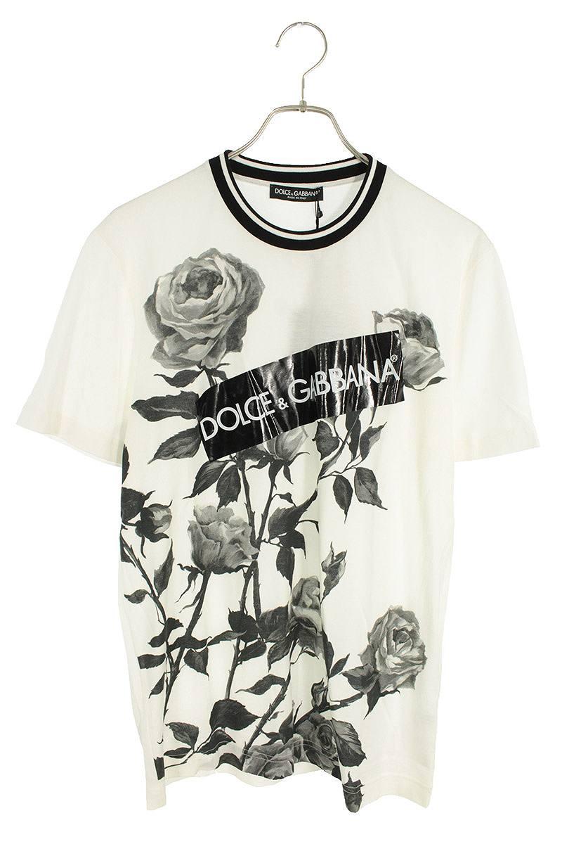 ローズロゴプリントTシャツ