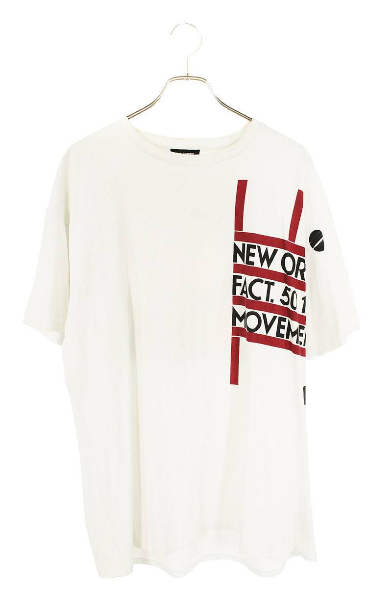 ニューオーダーフラワープリントTシャツ