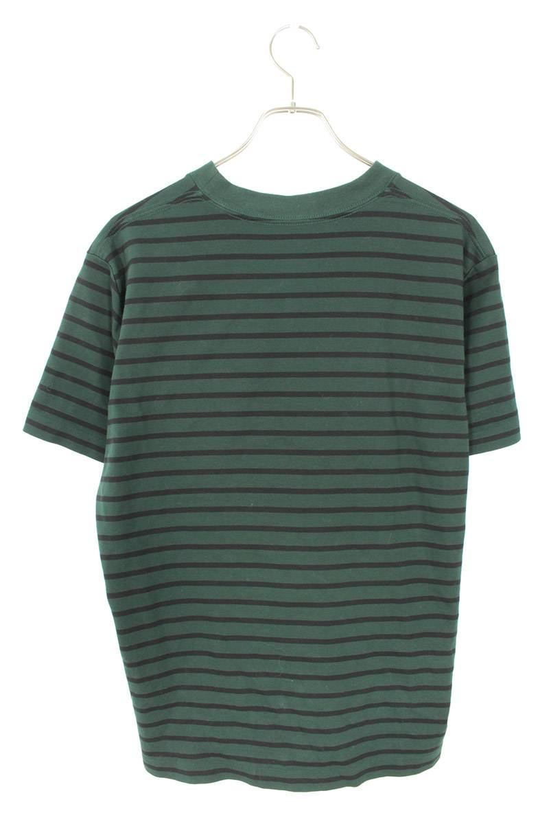 ロゴプリントボーダーTシャツ