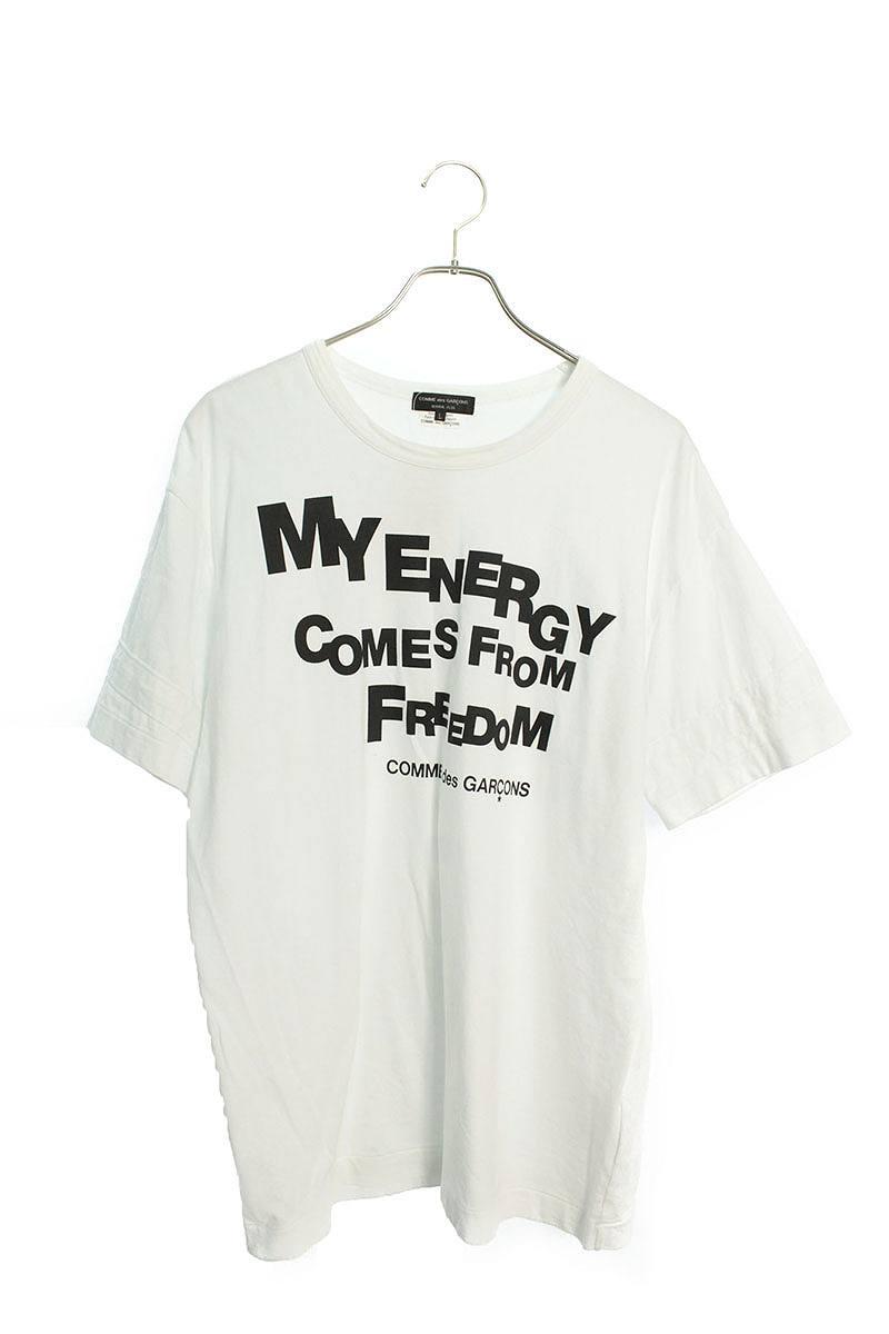 AD2019英字プリントクルーネックTシャツ
