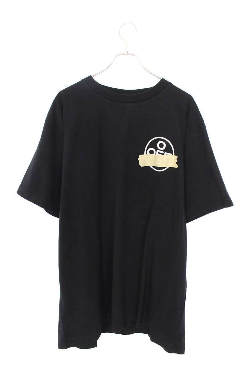 バックテープアロープリントオーバーサイズTシャツ