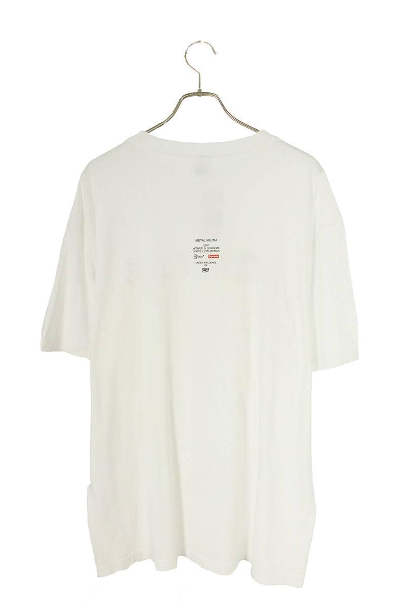 ダブルネームロゴプリントTシャツ