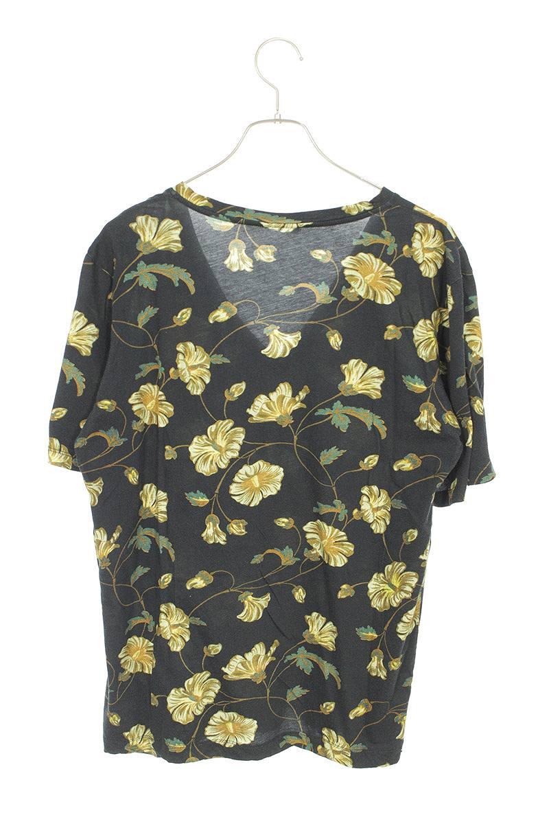 フラワー総柄VネックTシャツ