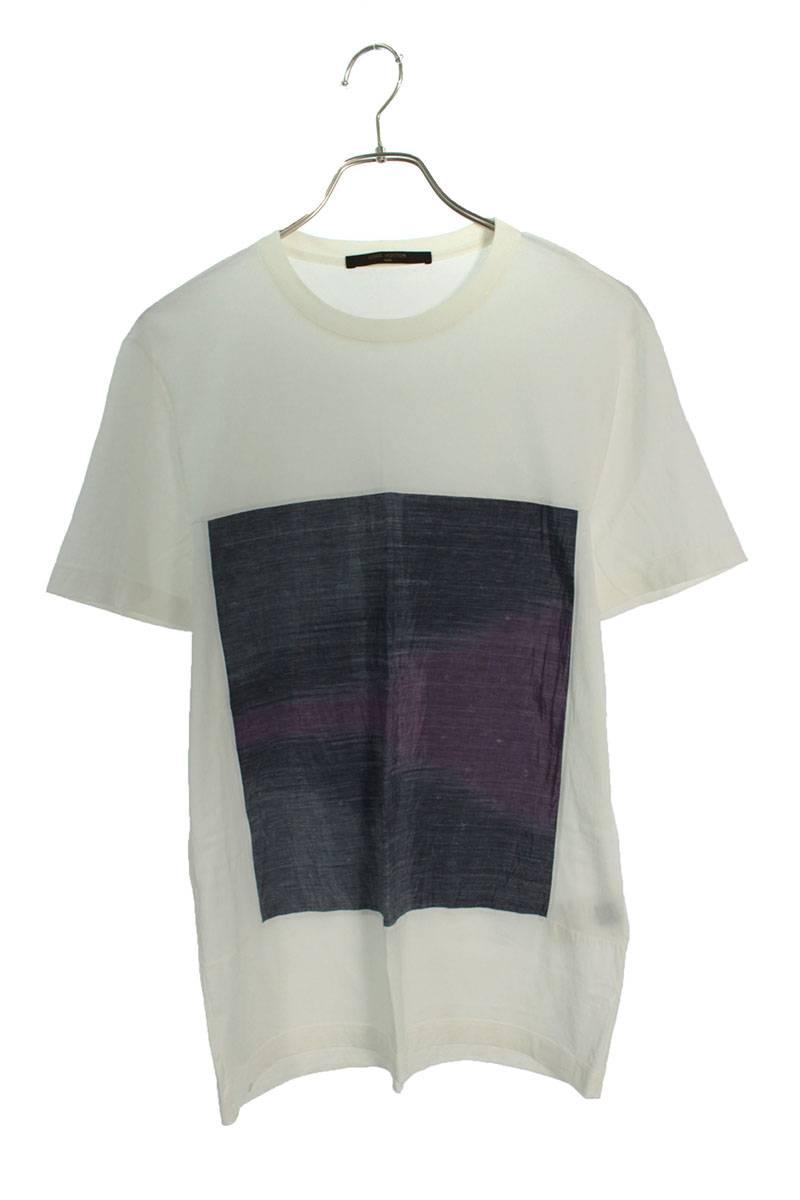パネルモノグラムTシャツ