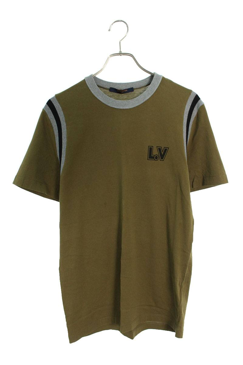 L.VロゴアロハプリントTシャツ