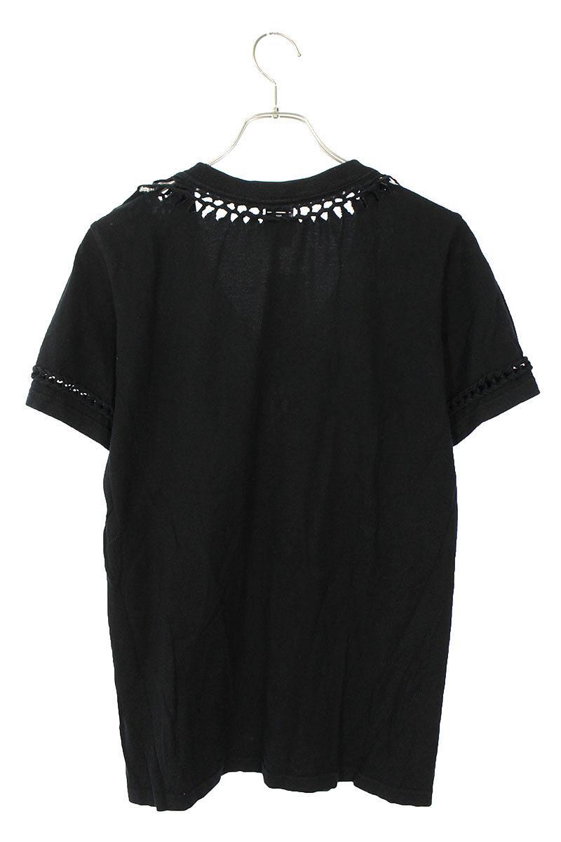 編み込みデザインTシャツ