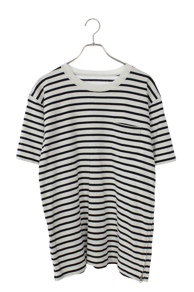 サイドジップボーダーTシャツ