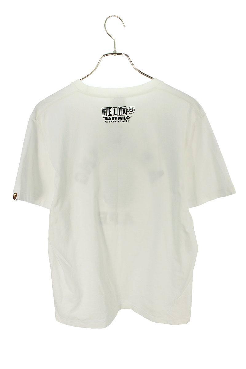 モノグラム柄サル顔カレッジロゴTシャツ