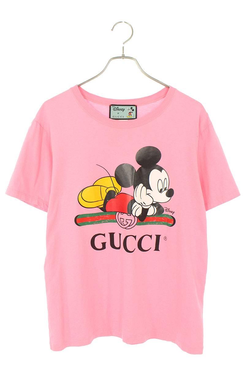 ×ディズニー ミッキープリントTシャツ