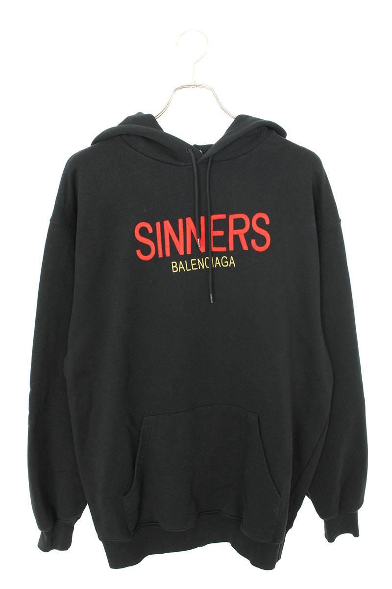 SINNERS刺繍プルオーバーパーカー