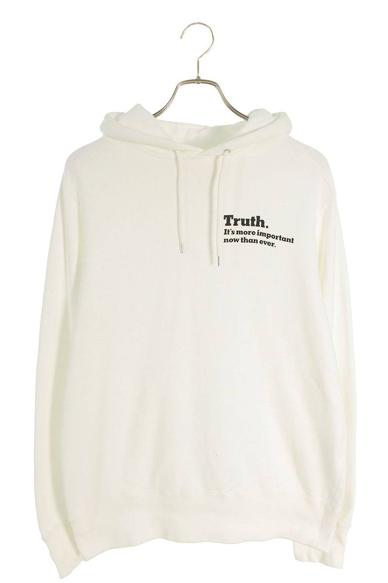 TRUTH プリント プルオーバーパーカー