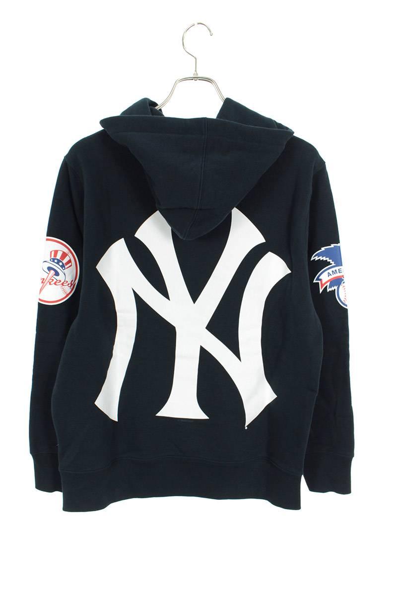 ニューヨークヤンキースロゴプルーオーバーパーカー