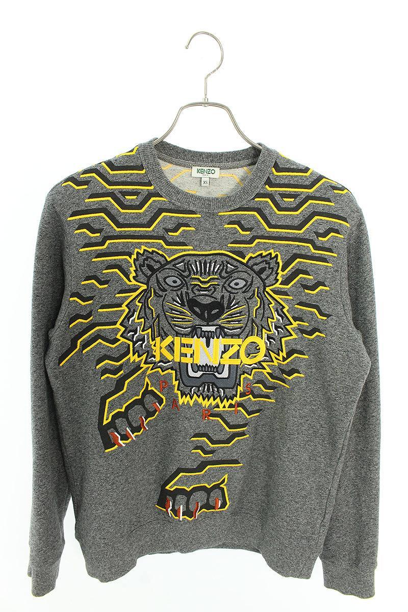 タイガー刺繍クルーネックスウェット