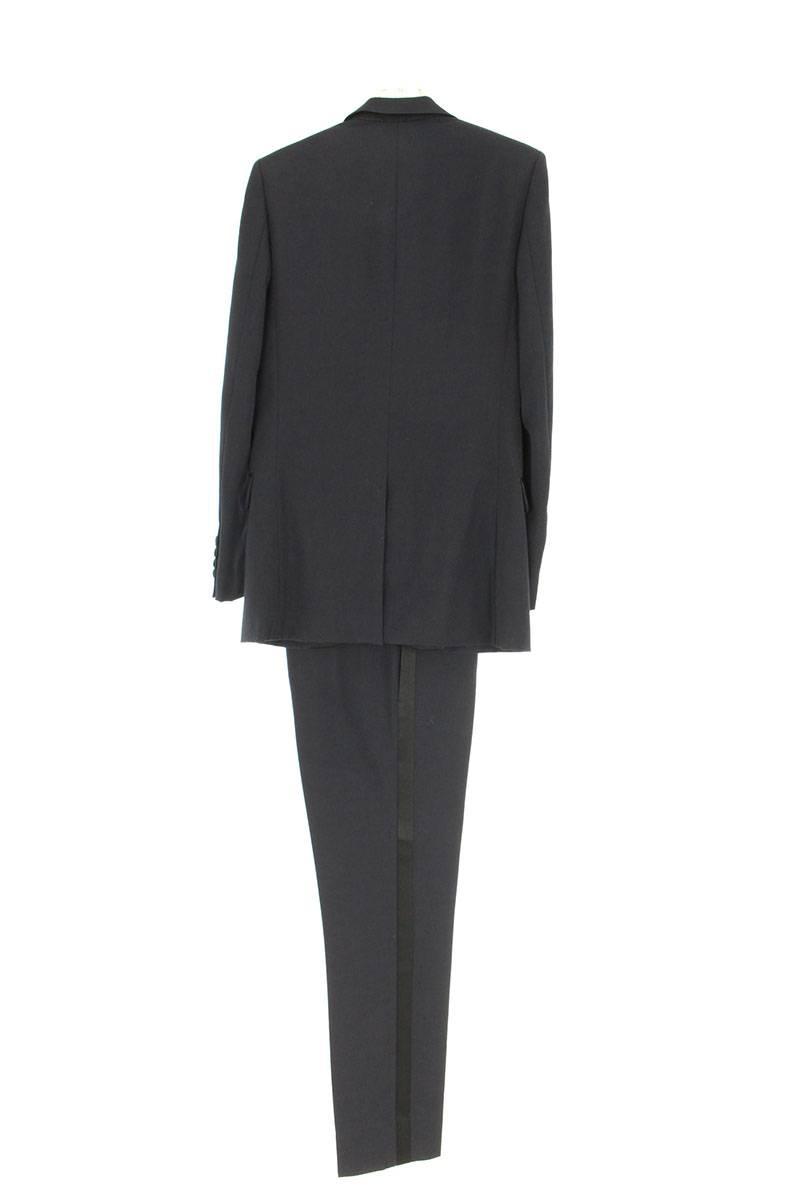 サイドラインスラックスピークドラペルスモーキングスーツ
