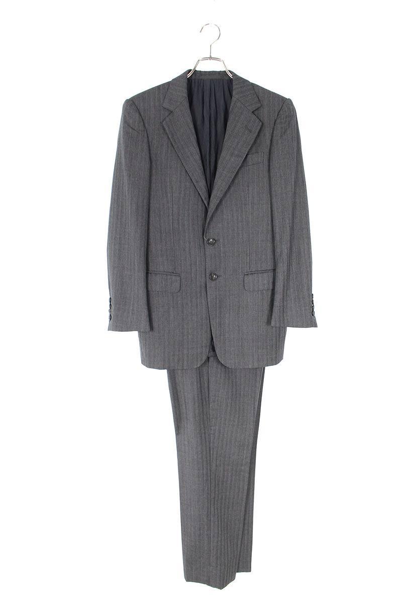 ウールジャガードストライプジャケットスーツ