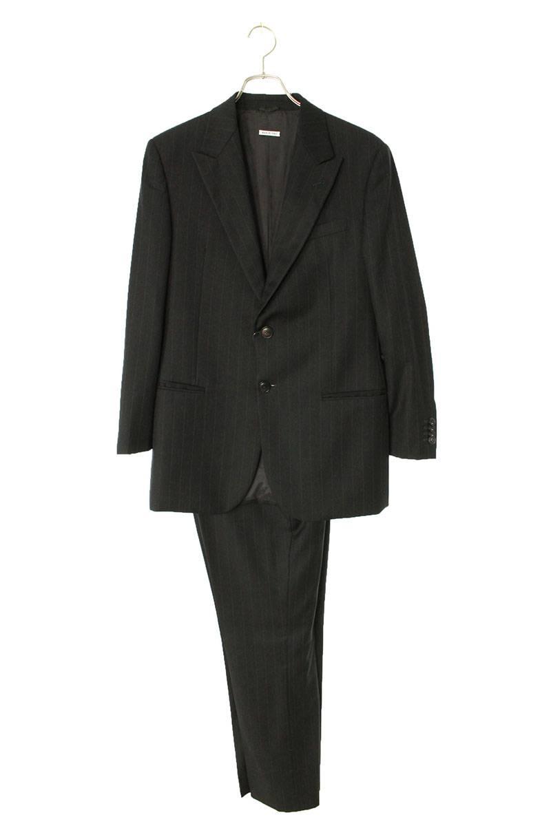 ストライプピークドラペルジャケットスーツ