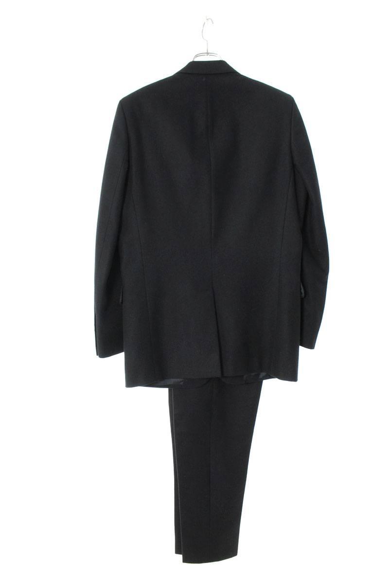 ピークドラペルカシミヤ混ウールスーツ