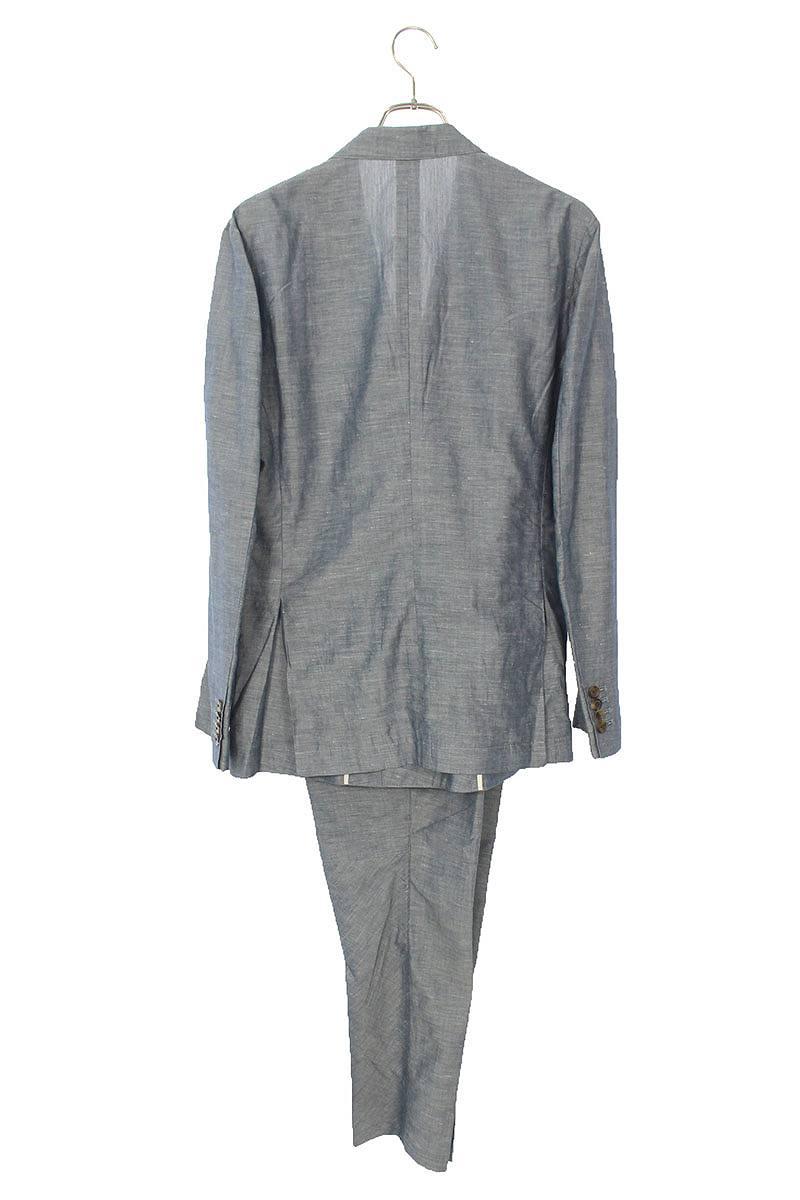 リネン混ダブルジャケットセットアップスーツ