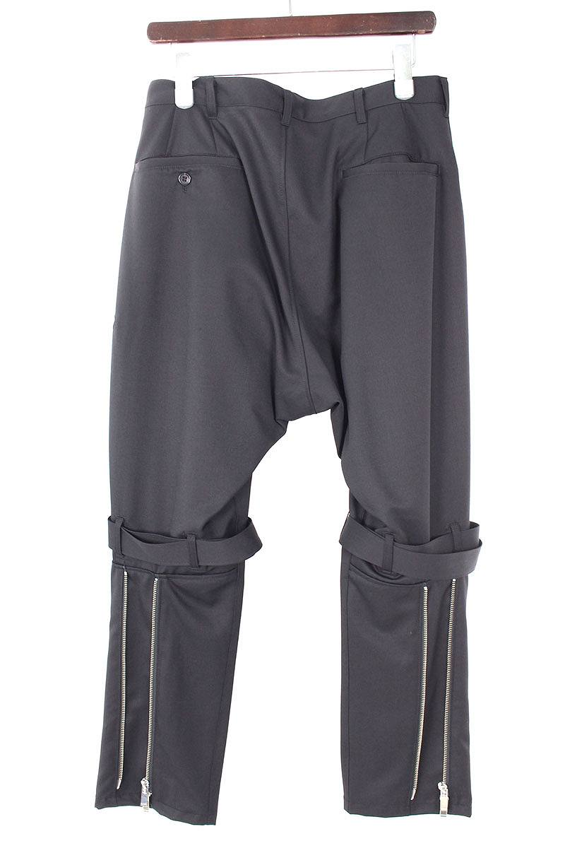 裾ジップサルエルボンテージスラックスパンツ