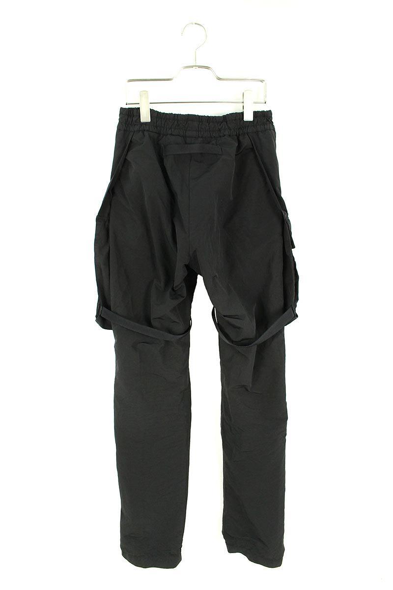 ポケットデザインナイロンカーゴロングパンツ
