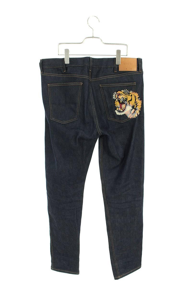 タイガー刺繍デニムパンツ