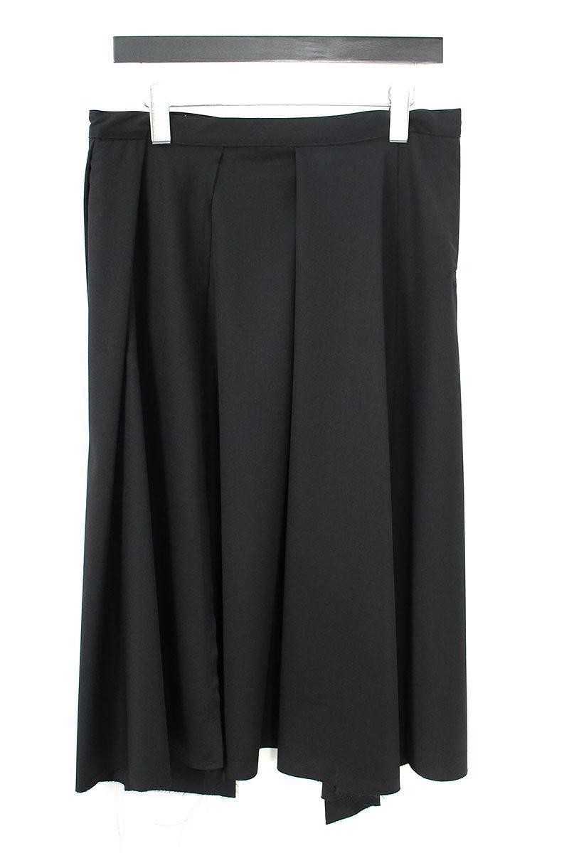 ベルト付きサイドポケット巻きスカート
