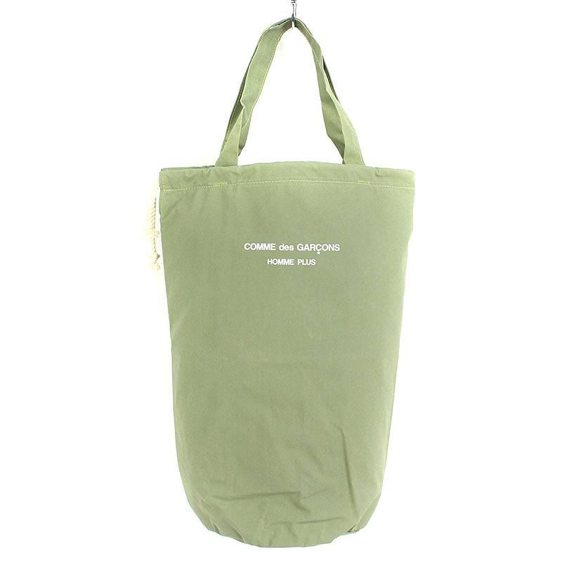 ロゴプリントドローコードナイロントートバッグ
