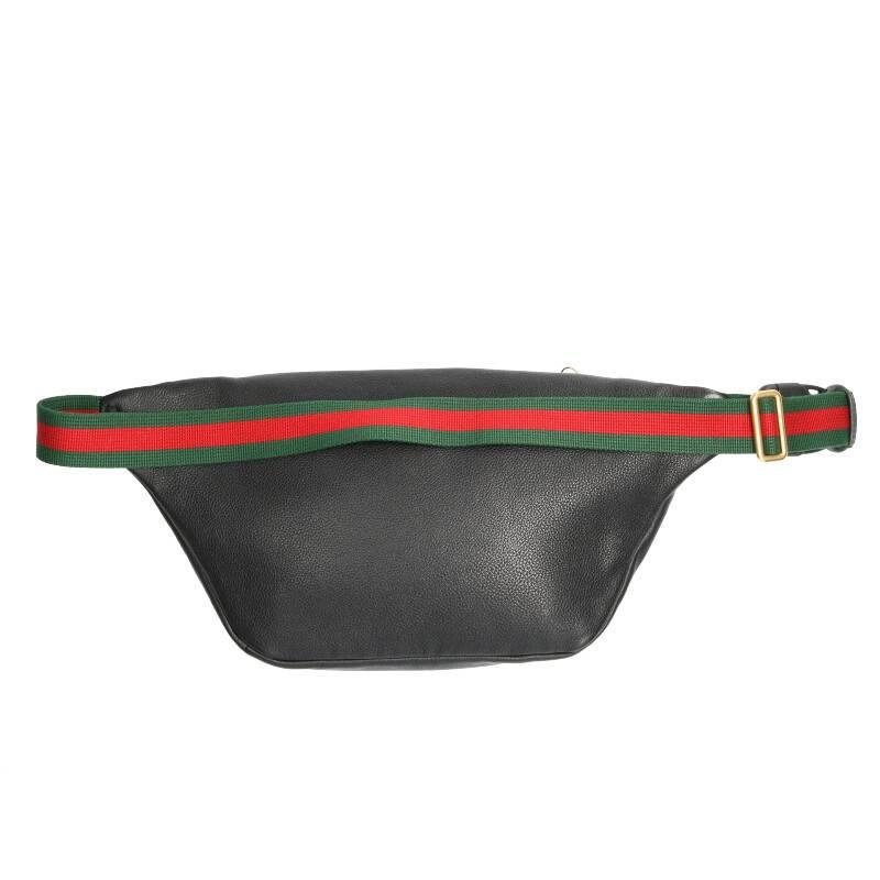 ヴィンテージロゴプリントレザーウエストバッグ
