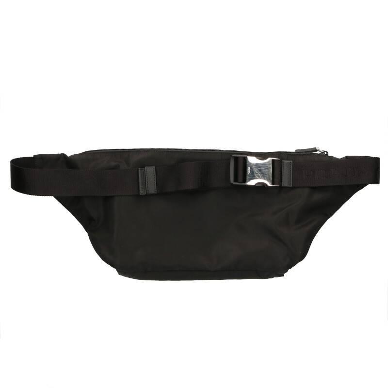 ロゴプレートナイロンウエストバッグ